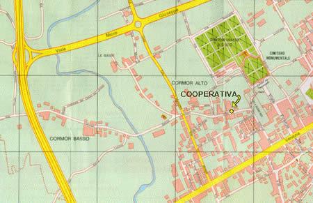 Mappa per raggiungere la sede regionale