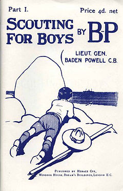 Copertina del libro scouting for boys